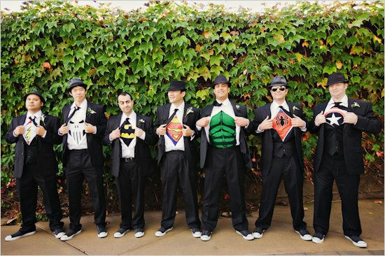 Surprise Groomsmen T Shirts: Not Up For An All Out Superhero Theme?