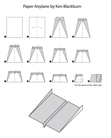 Folding Instructions To Fold The Aircraft You Should Follow Step Following Sequence