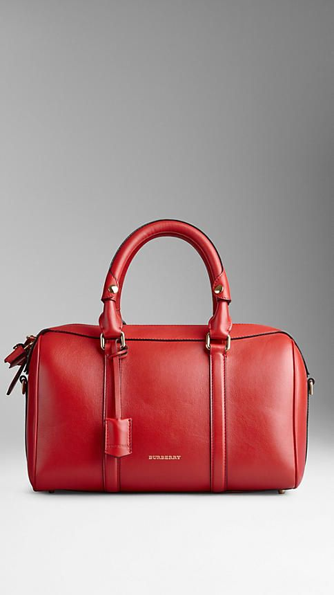 c705bceae526 Medium Leather Bowling Bag from Burberry