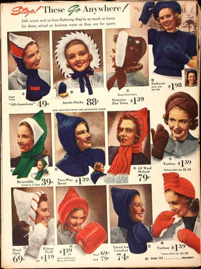bf77df77c1d Vintage Cold Weather Hats   some real head turners!