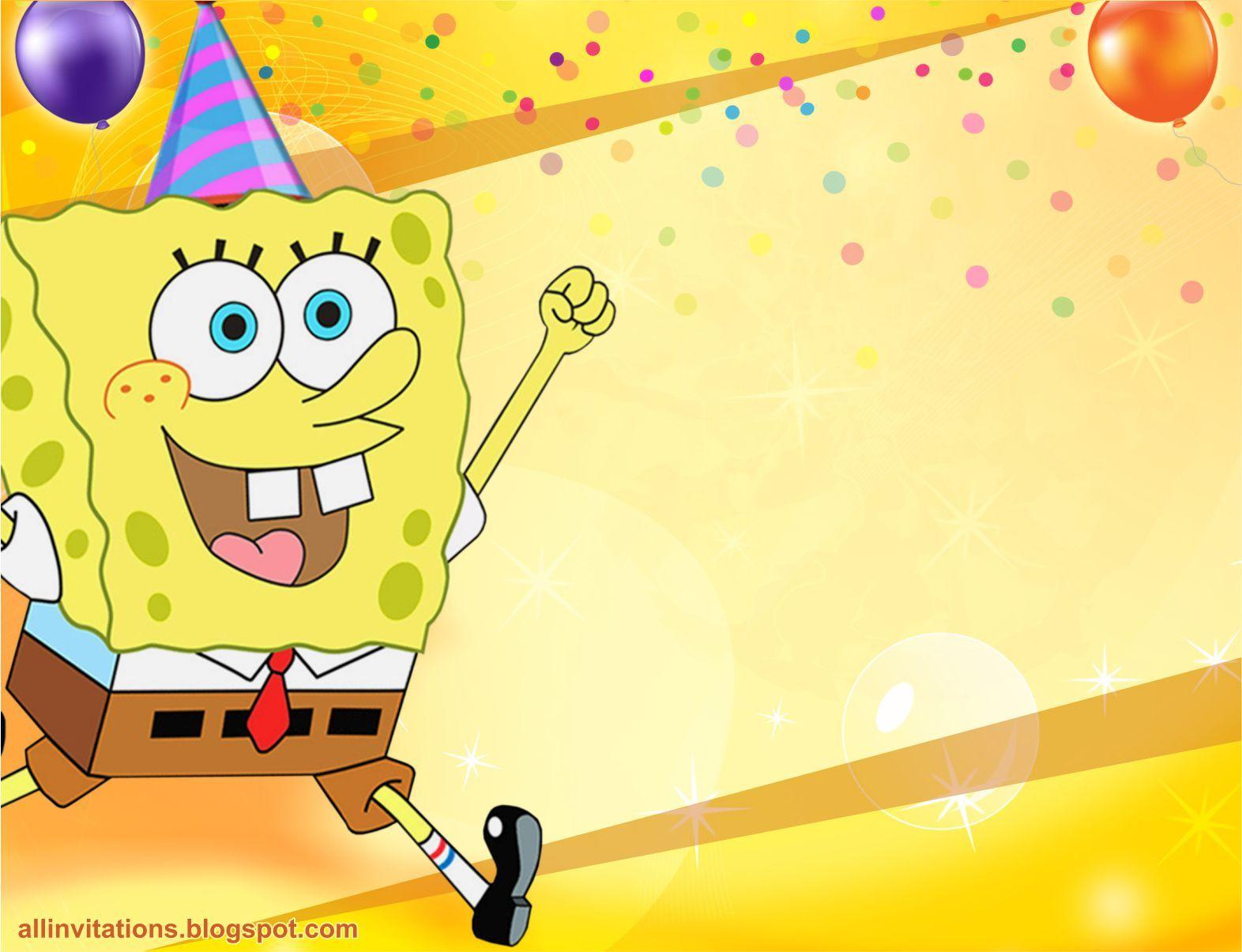 Plantilla invitacion cumpleaños bob esponja | Cumple | Pinterest ...