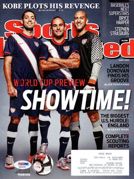a27330b87 Clint Dempsey Autographed Sports Illustrated Magazine Team USA PSA/DNA