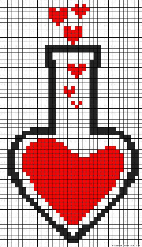 love potion perler bead pattern stuff we love pinterest perler beads bead patterns and beads. Black Bedroom Furniture Sets. Home Design Ideas