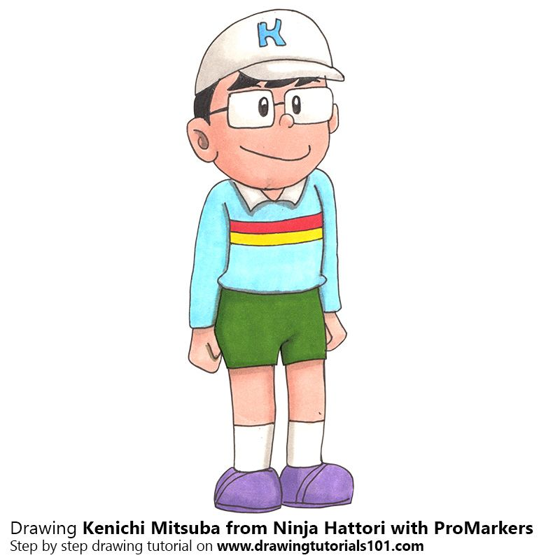 Kenichi Mitsuba From Ninja Hattori With Promarkers Simple Cartoon Easy Cartoon Drawings Ninja Ninja hattori cartoon wallpaper cave