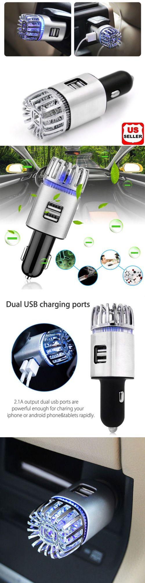 Details About 2 In 1 Car Dual Usb Fresh Air Ionic Purifier Oxygen Bar Ozone Ionizer Cleaner N1 Air Purifier Purifier