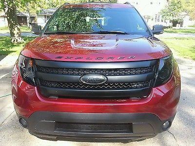 Ford Explorer Sport Grill Emblem Matte Black  D
