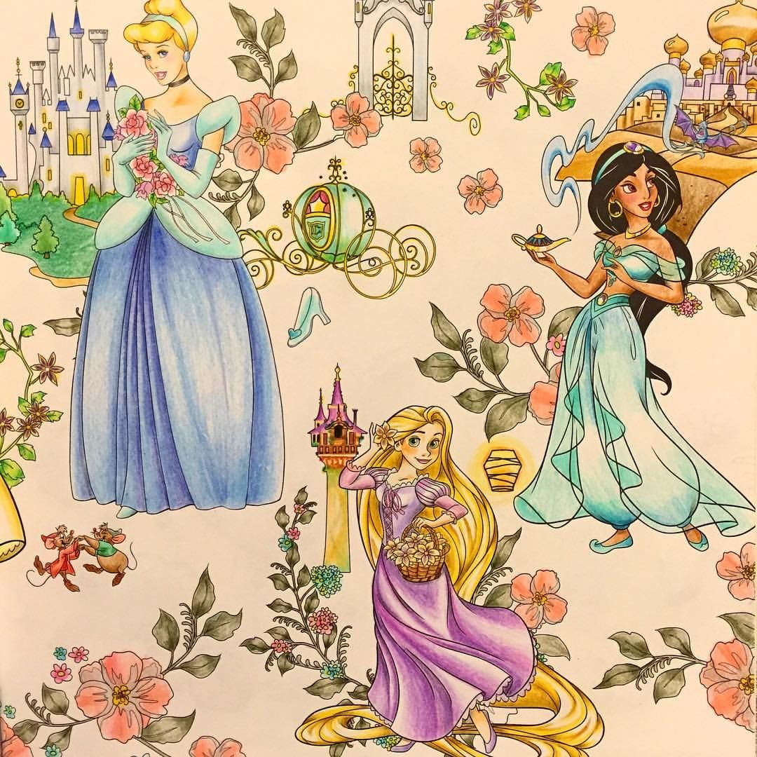201655tue 見開き右 プリンセスは塗ってて楽しいー