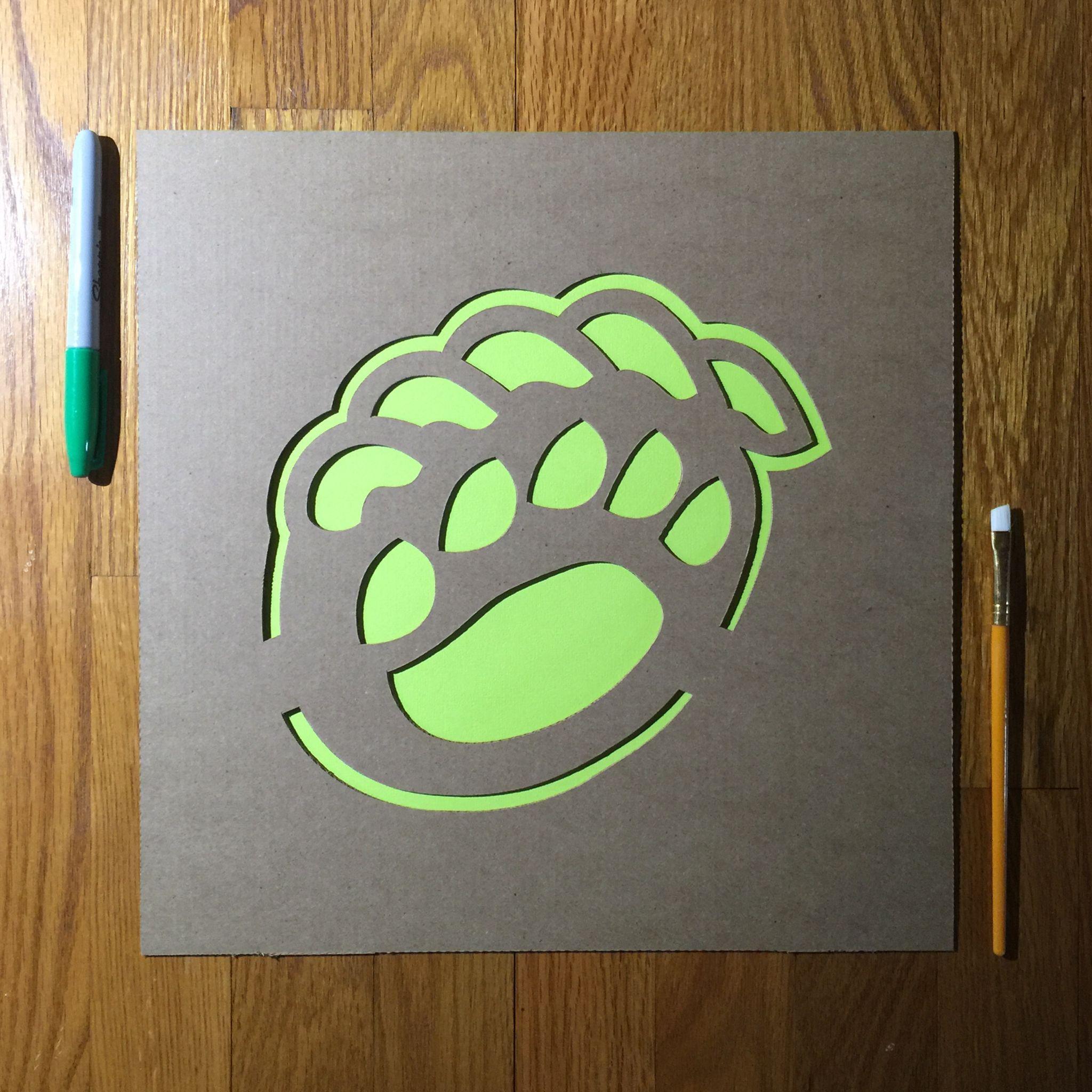 Baylor Bears Claw Logo Stencil Bear claws, Stencils