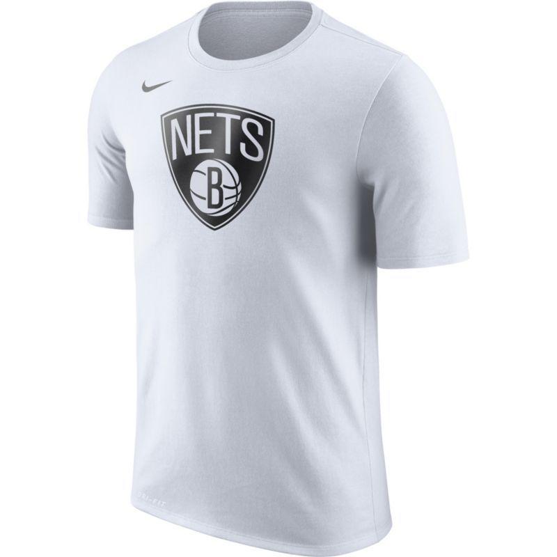 Dri Brooklyn Fit Nike T ShirtSizeLarge Men's White Nets Logo H2IW9YDE