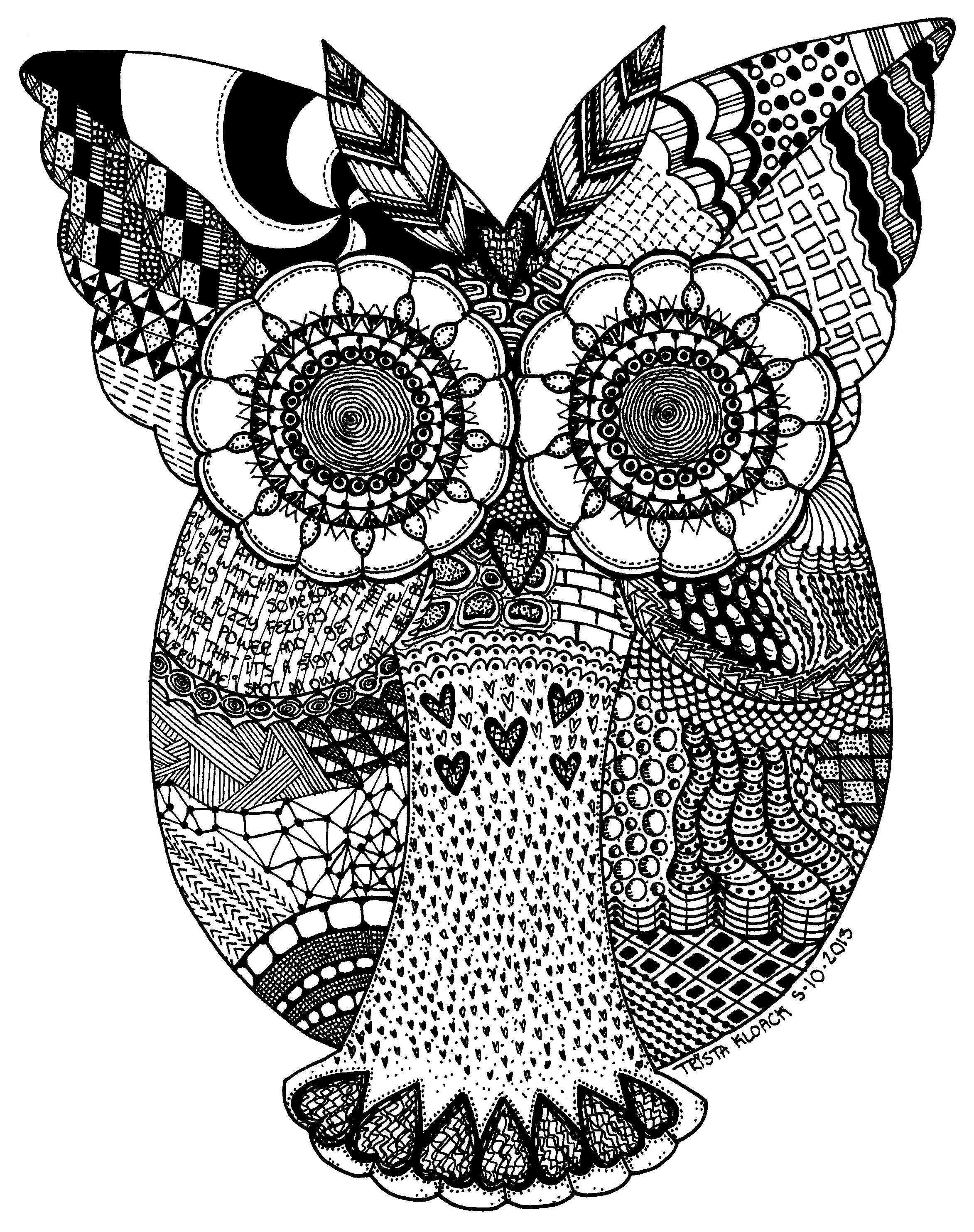 Zentangle Owl Owl Coloring Pages Owl Art Zentangle Animals