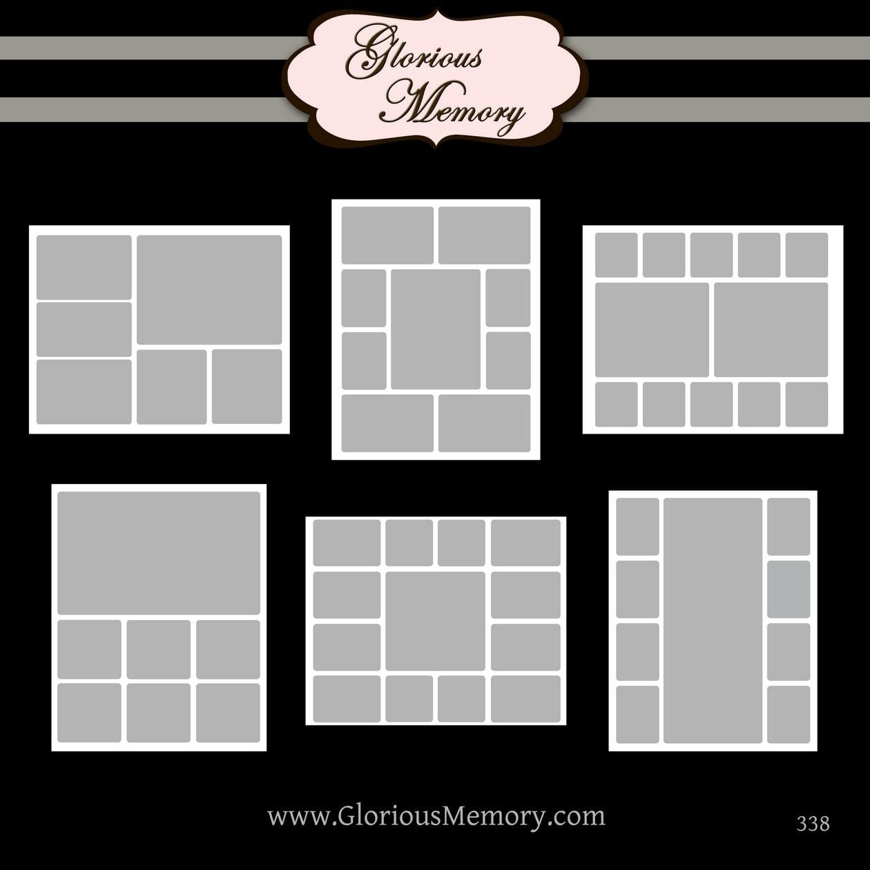 storyboard collage blog board photoshop psd templates three 16x20 and three 20x16 rounded. Black Bedroom Furniture Sets. Home Design Ideas