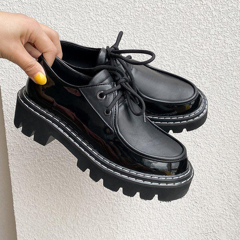 Chiko Achilla Round Toe Block Heels Oxford