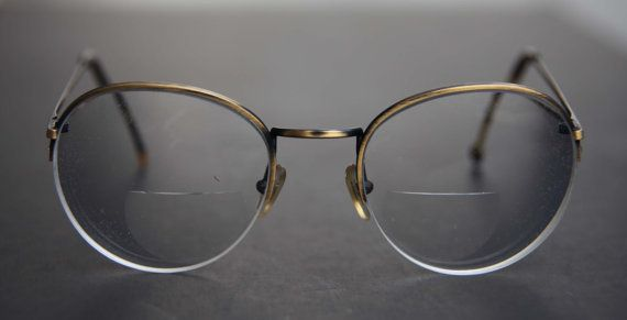 7a14391611 Antique Brass Round Eyeglasses Tortoise Shell Steampunk Wire Rim Vintage RX  Prescription Eyewear Half Rim Metal Frames