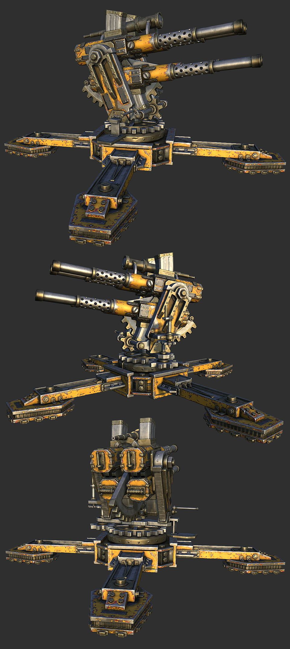 Flakk Cannon - WIP PredatorGSR - Polycount Forum