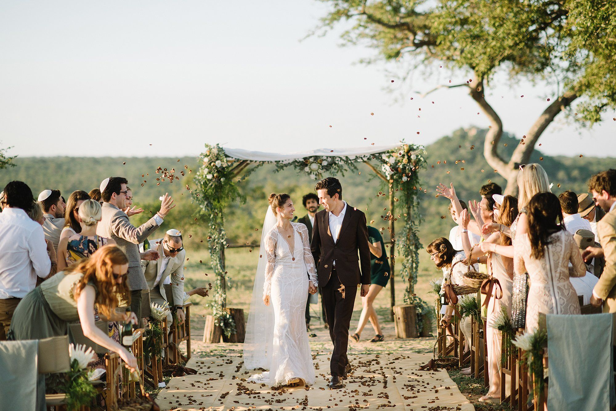 With family and friends looking on, the couple exchanged vows they wrote…