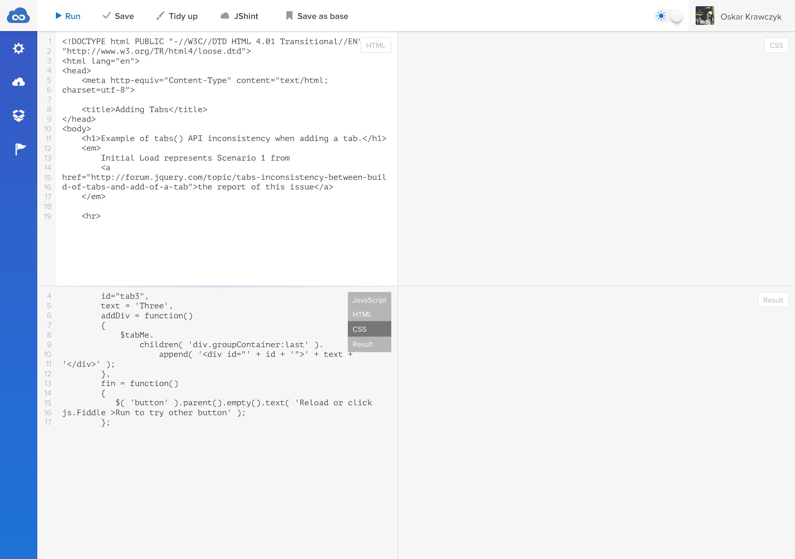Jsfiddle-realpixels   UI   UI Design, User interface design