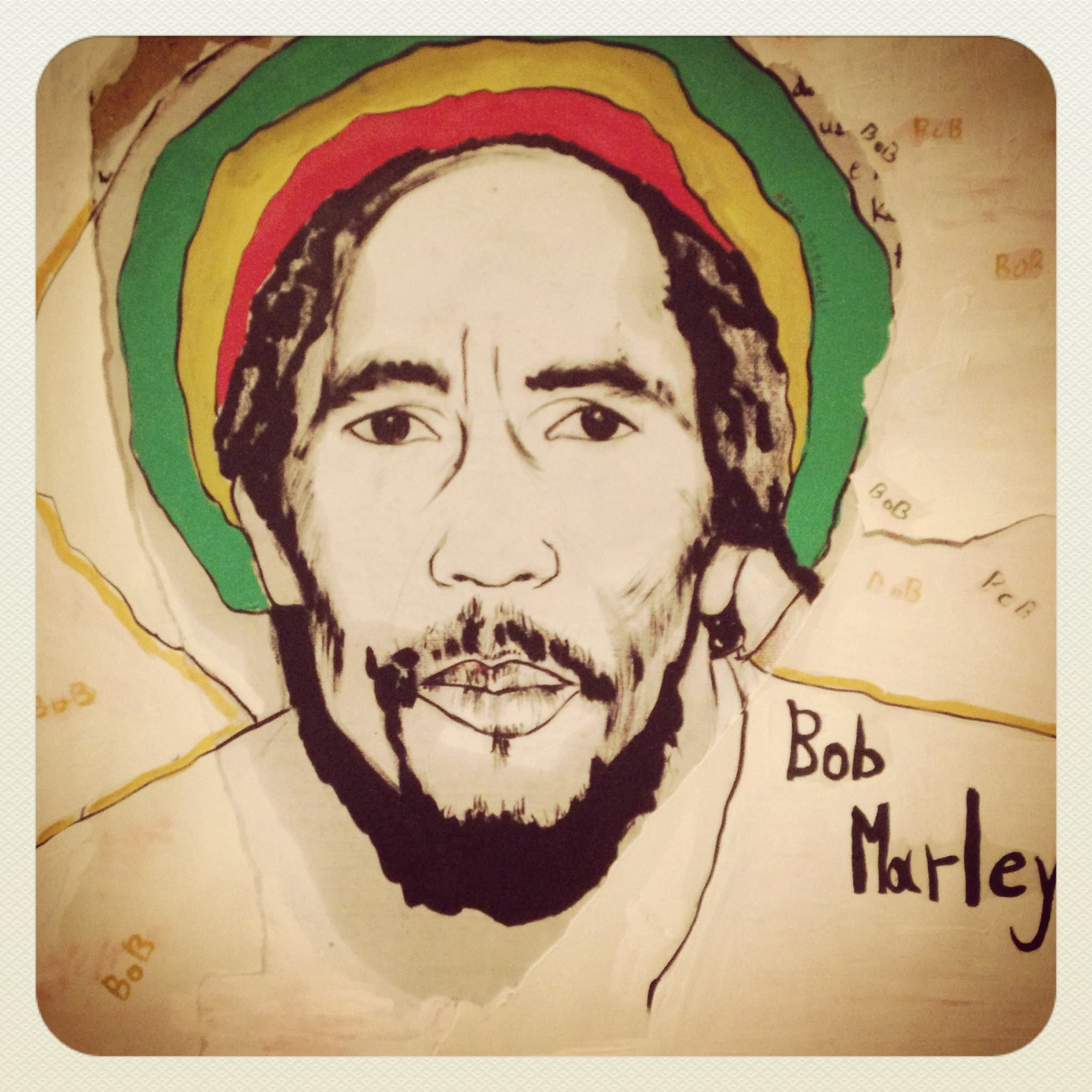 bob marley ,illustracion