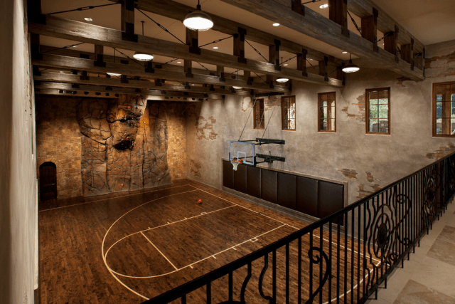 Homes With Indoor Basketball Courts Est Interior Design Court Home Basketball Court Indoor Basketball Court Indoor Basketball