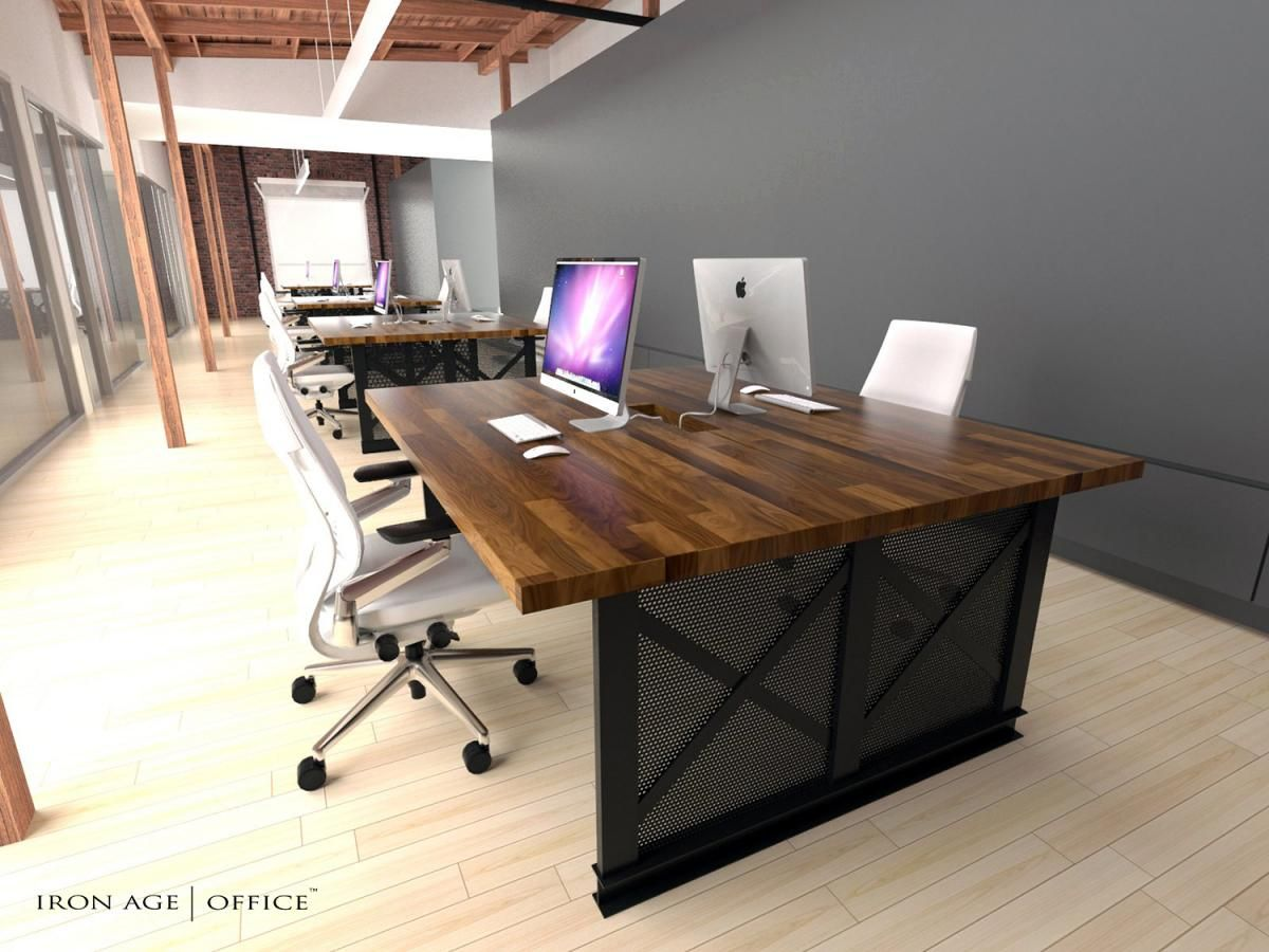 Iron Age Office   Gallery   Contemporary office furniture, Rustic ...