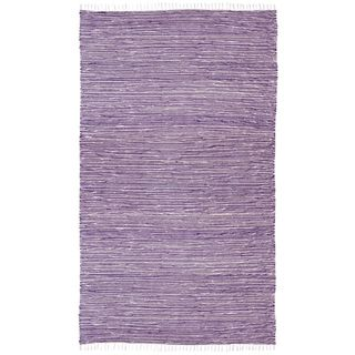 Purple Reversible Chenille Flat Weave Area Rug (9' x 12'), $160.00