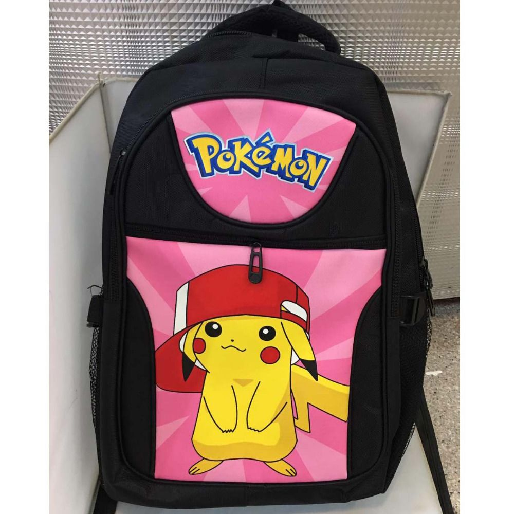 Novelty & Special Use Anime Pokemon Nylon Waterproof Laptop Backpack Pocket Monster Double-shoulder Bag Poke Ball School Bag Costumes & Accessories