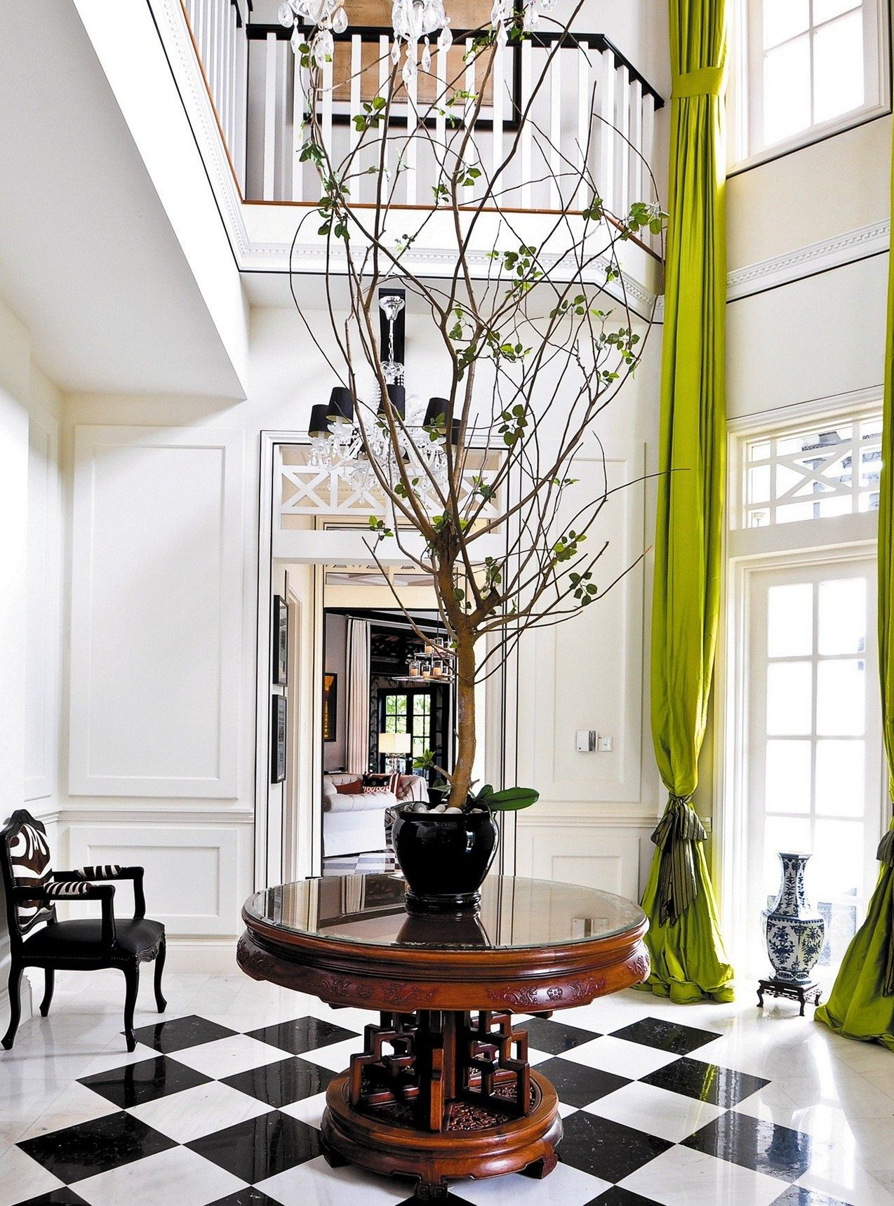 Entry Foyer Table Round : Editorial worthy entry table ideas designed with every