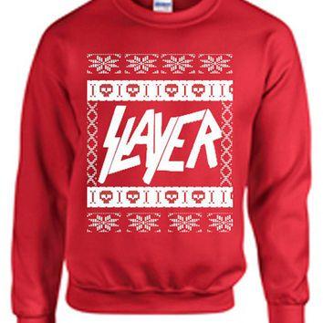 Slayer ugly christmas sweater metal hardcore punk satan 666 xmas ...