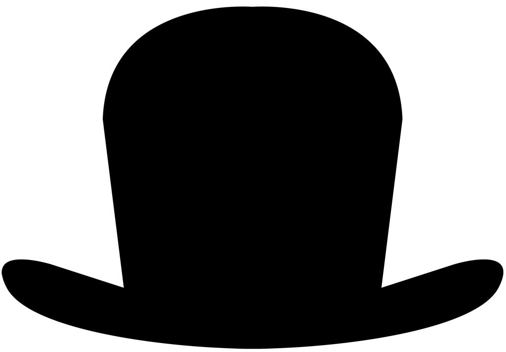 フリーイラスト素材 クリップアート シルクハット 帽子 ファッション