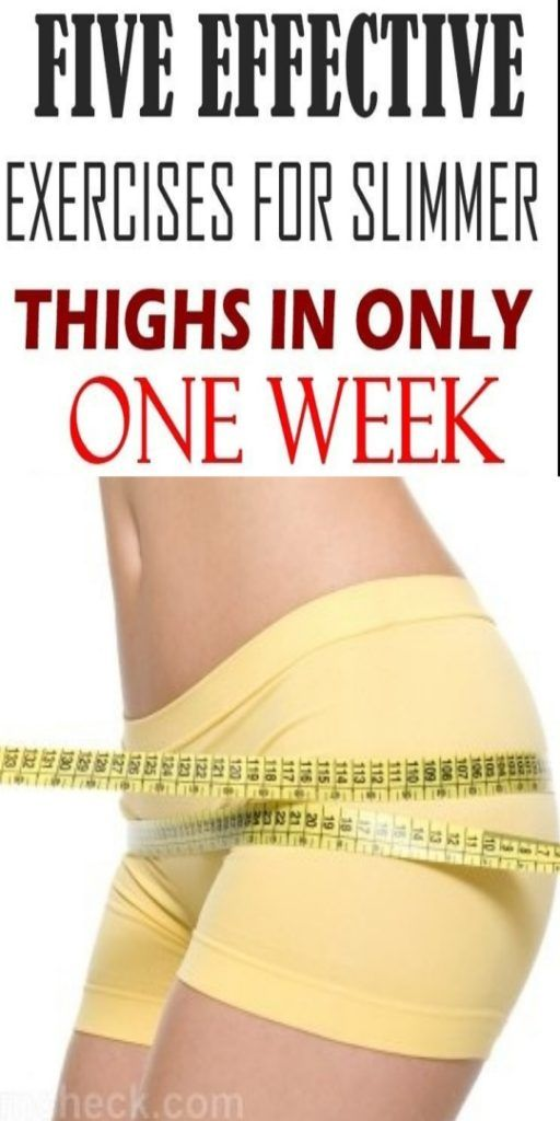 Five Effective Exercises For Slimmer Thighs In Only One Week #geniusmomtricks