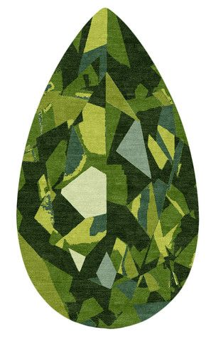 The Gem Rug Collection From Kush In Portland Design Tear Emerald