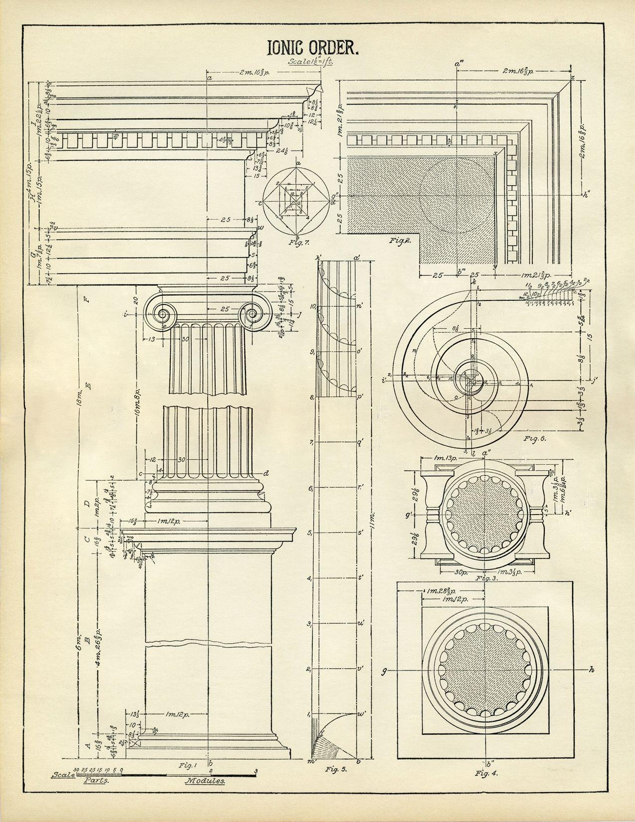 architecture printable ionic [ 1275 x 1650 Pixel ]