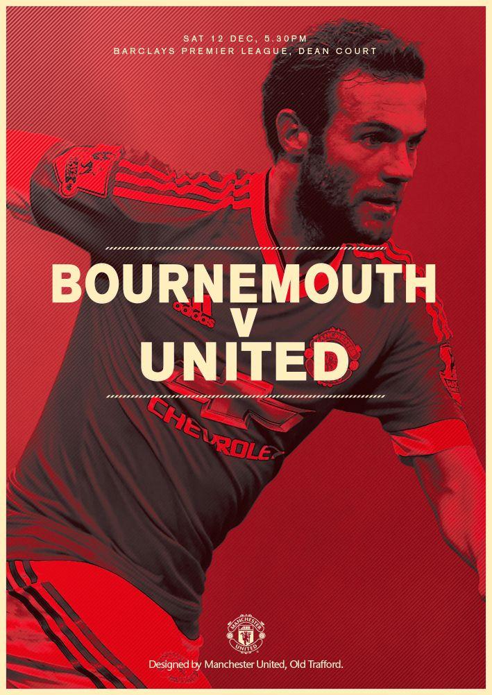 Match poster. Bournemouth v Manchester United, 12 December