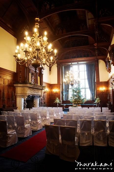 Rhinefield House Christmas Time Grand Hall Bridesmaids Board