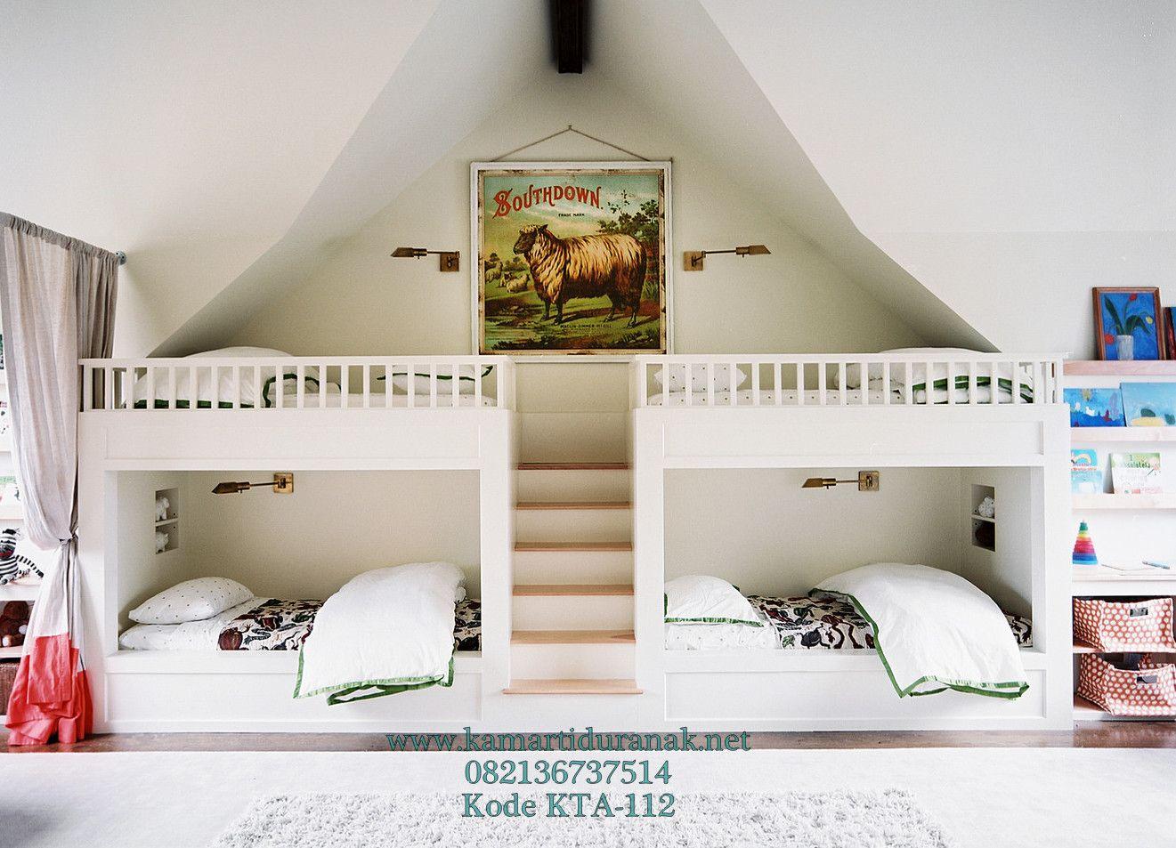 Konsep Tempat Tidur Tingkat Modern 4 Ranjang Dekorasi Interior