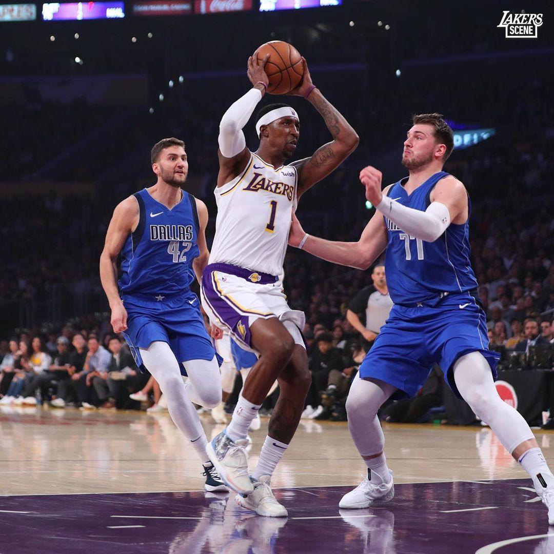 Los Angeles Lakers Kcp Splitting The Defense Los Angeles Lakers Nba Los Angeles Lakers