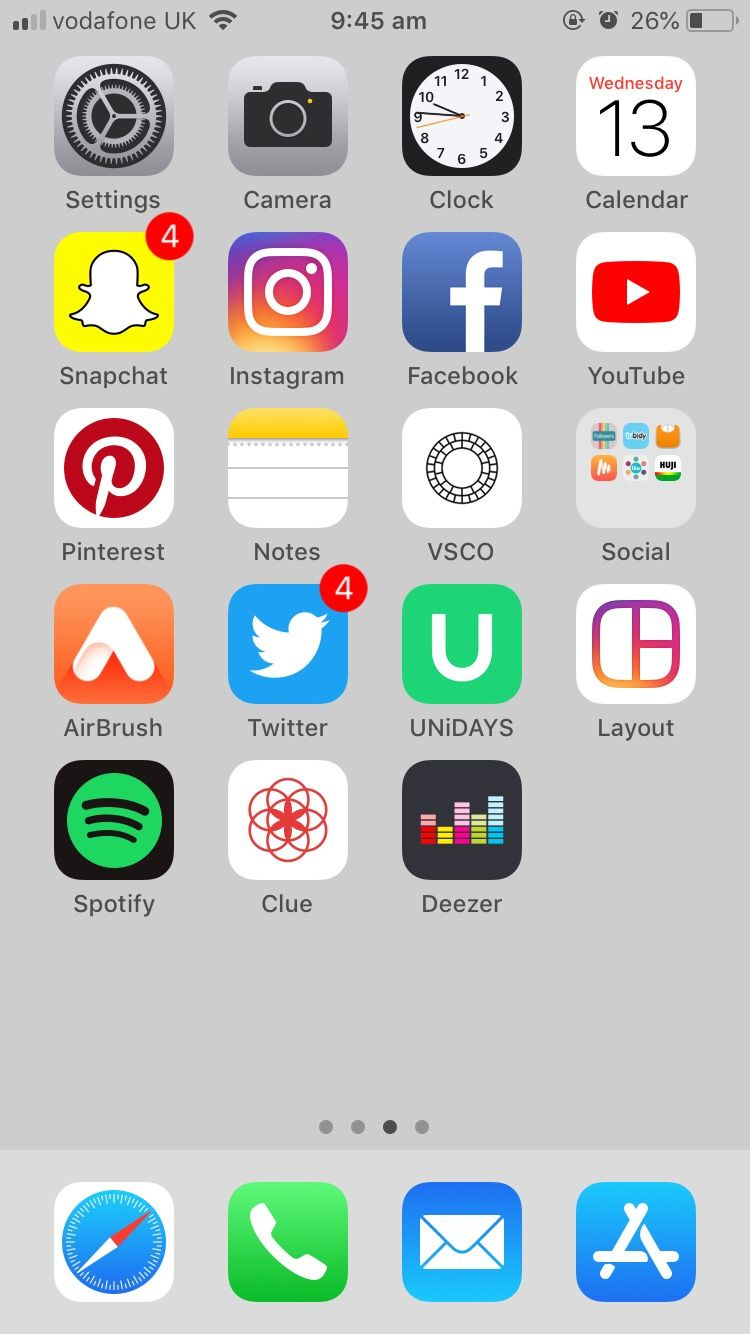 iphonelayoutideas this is my homescreen layout atm which I really ...