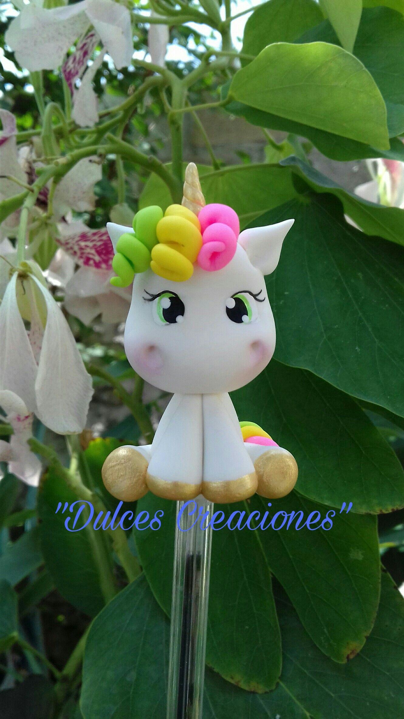 Unicornio bol grafo decorado pasta flexible porcelana - Plumas para decorar ...