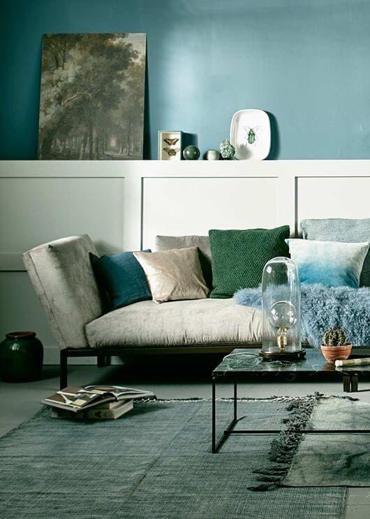 So setzen Sie Grn effektvoll ein  Wohnideen  Blaue wnde Wandgestaltung grn und Wandfarbe grn