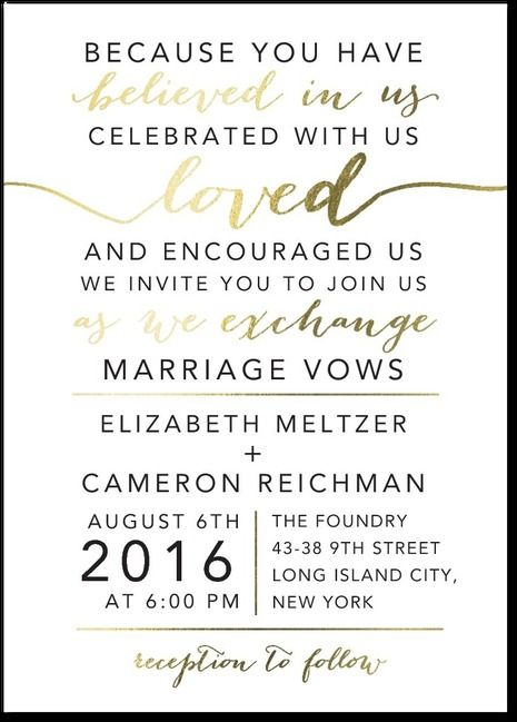 Elegant Exchange Full Suite Foil Stamped No Parents Aa Wedding