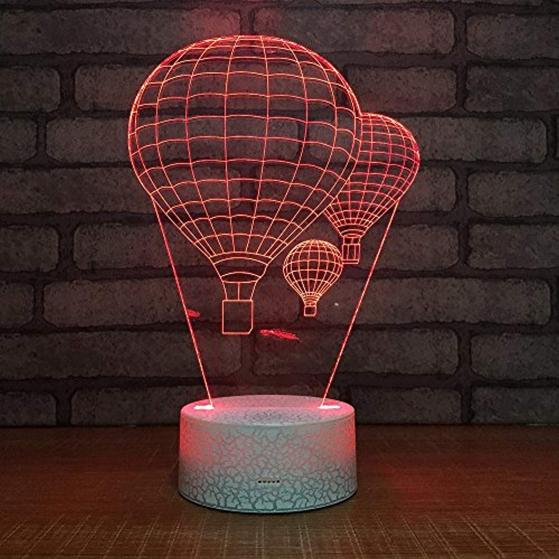 Hot Air Balloon Night Light 3D Visual LED Desk Lamp Fire