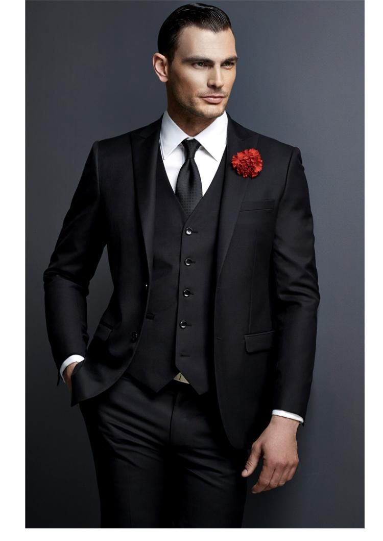jacket+pants+bow Tie High Quality Blue Mens Suits Groom Tuxedos Groomsmen Wedding Party Dinner Best Man Suits W:6 Sale Price