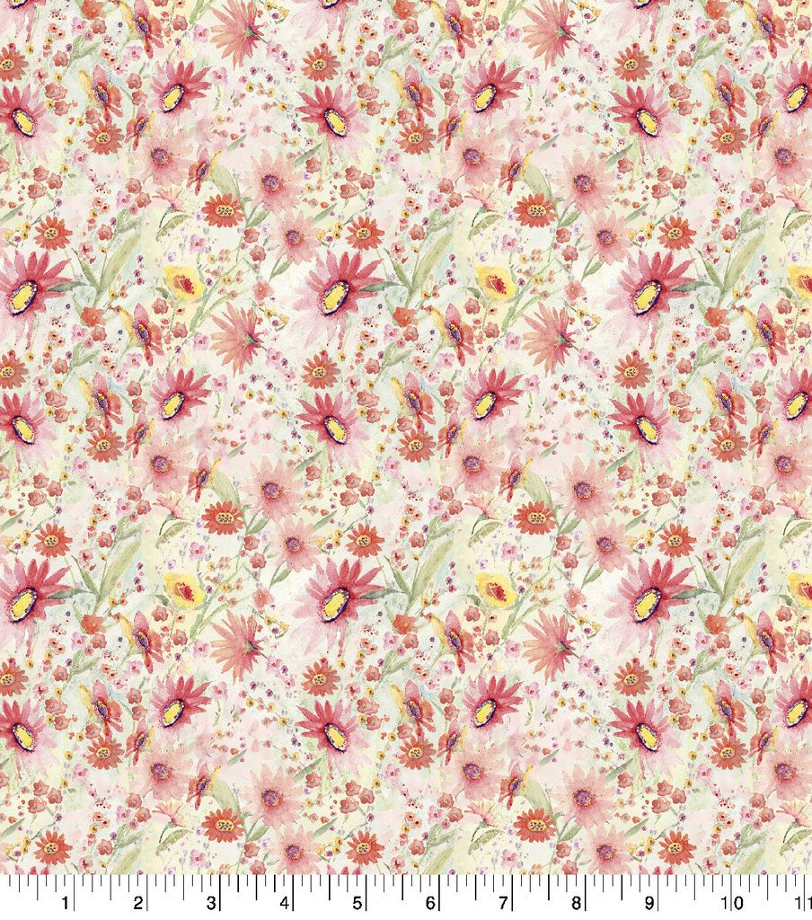 Premium Quilt Cotton FabricWildflower Floral Mini