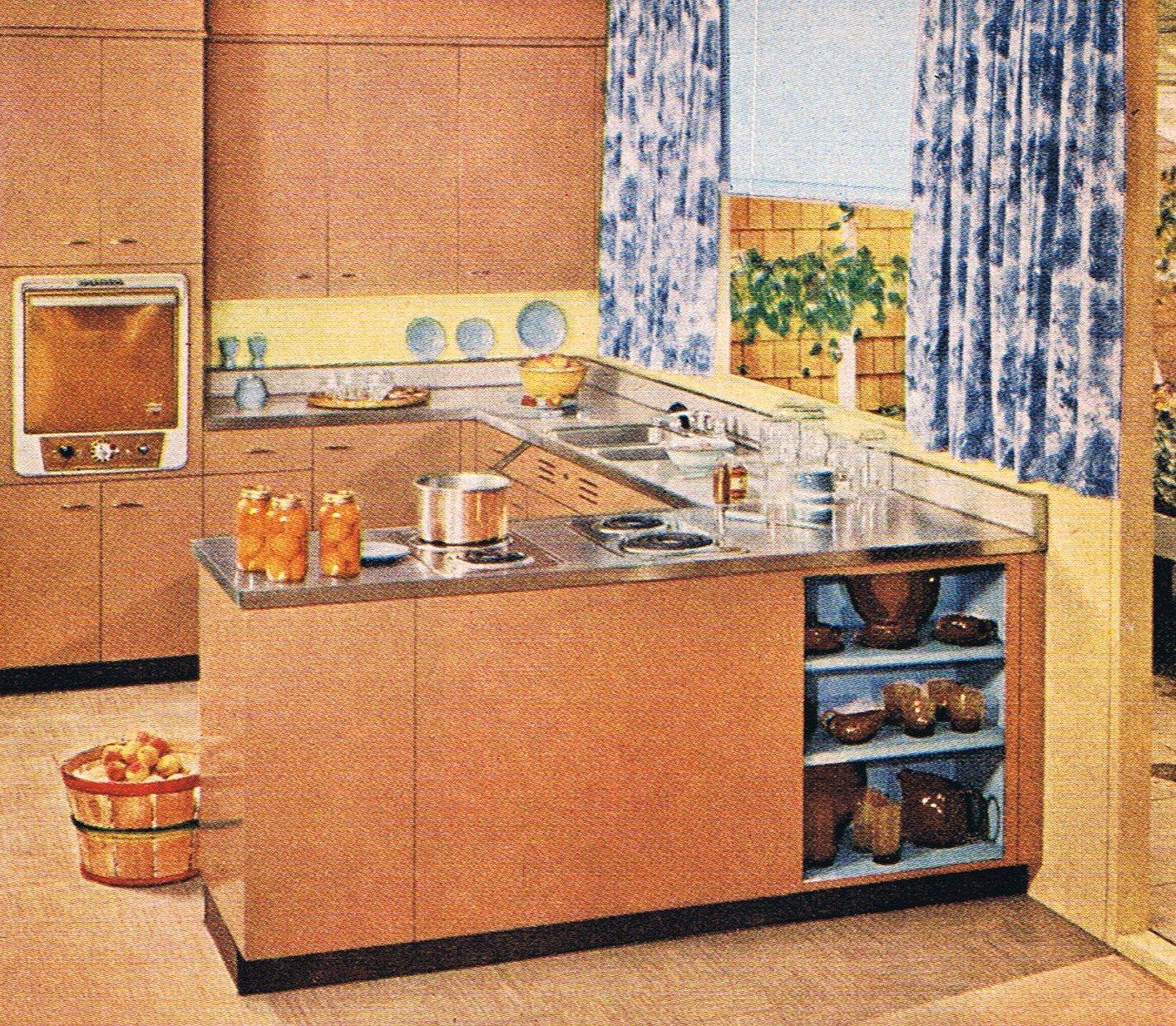 Best St Charles Cabinets 1950 S Copper Kitchen Retro 640 x 480
