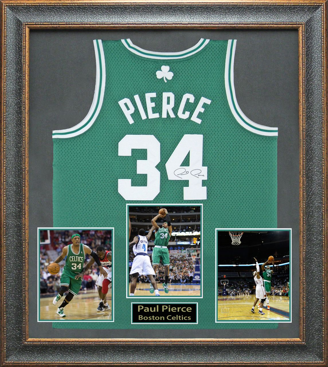 buy popular 3e359 04069 Paul Pierce Autographed Boston Celtic Framed Jersey ...