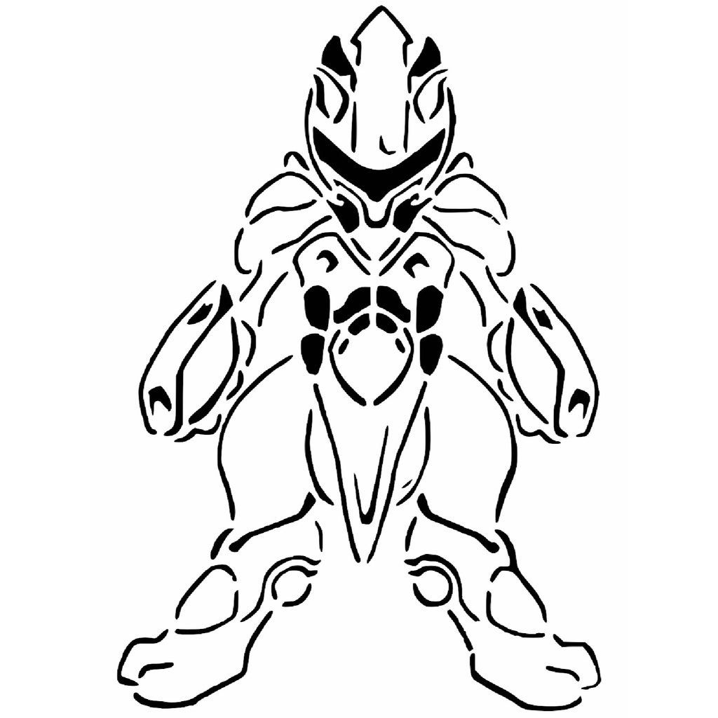 Armored Mewtwo stencil by Longquang. Stencils, Stencil