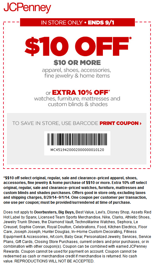Jcpenney Coupons 10 Off 10 At Jcpenney Promo Codes Jcpenney Coupons Coupon Apps Print Coupons