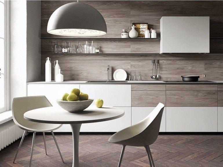 Cozinha integral FORMA MENTIS - GLASS / MELAMINE DOOR by VALCUCINE