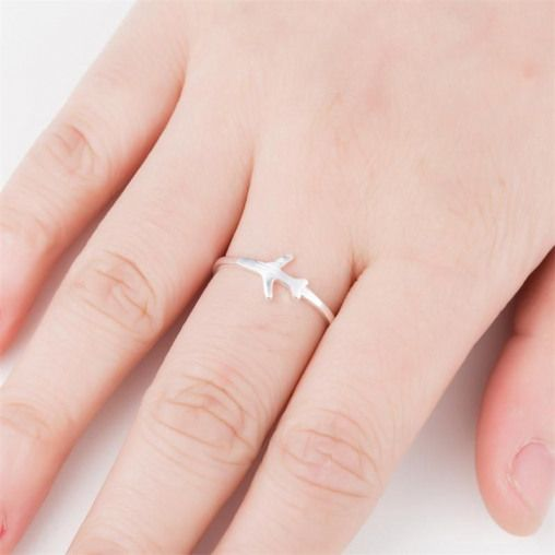 Unique Aircraft Air Plane Finger Ring Rings Outfit Accessories From Touchy Style | Charm Jewelry Creative For Boy For Couples For Friend For Men's For Party For Teenager For Women's Jewelry Set Outfit Accessories Ring Silver Vintage. | Free International Shipping.