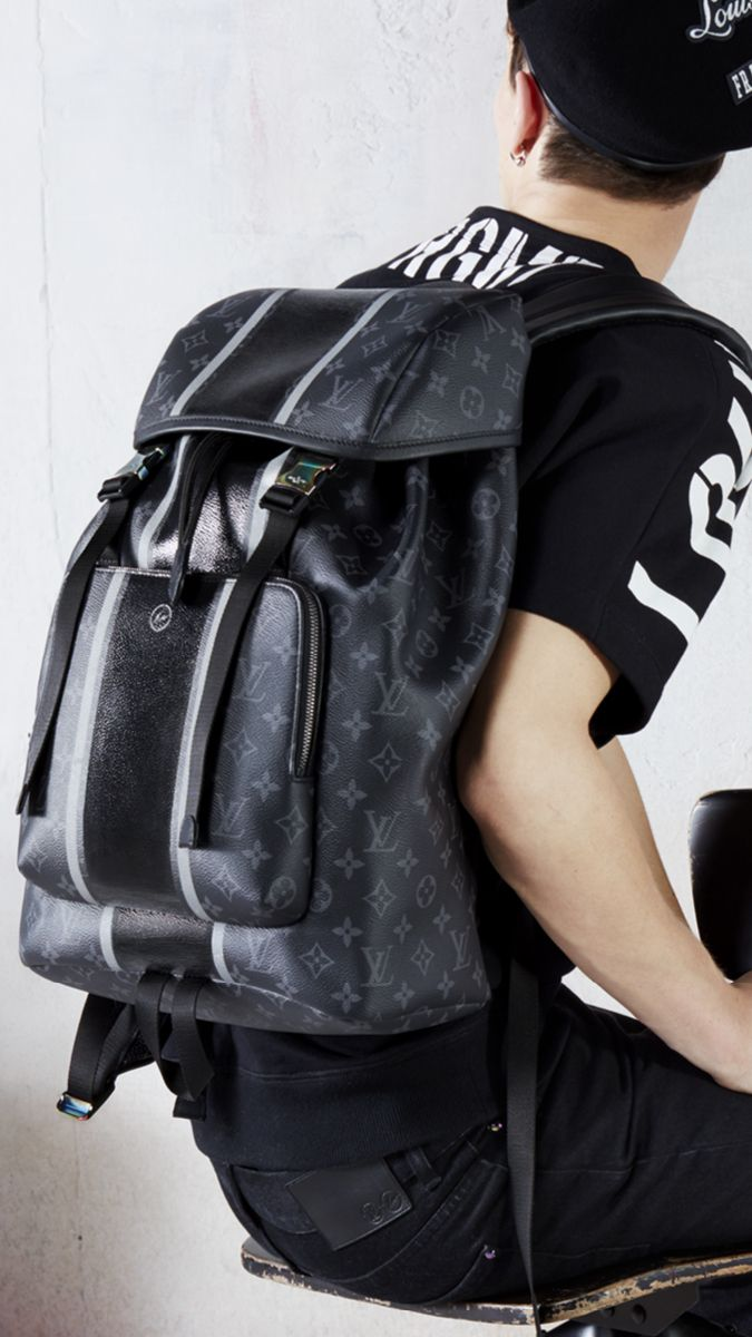 208f43e0cc37 Louis Vuitton Zack Backpack in Monogram Eclipse from the Men s Fall Winter  2017 Collection by Kim Jones
