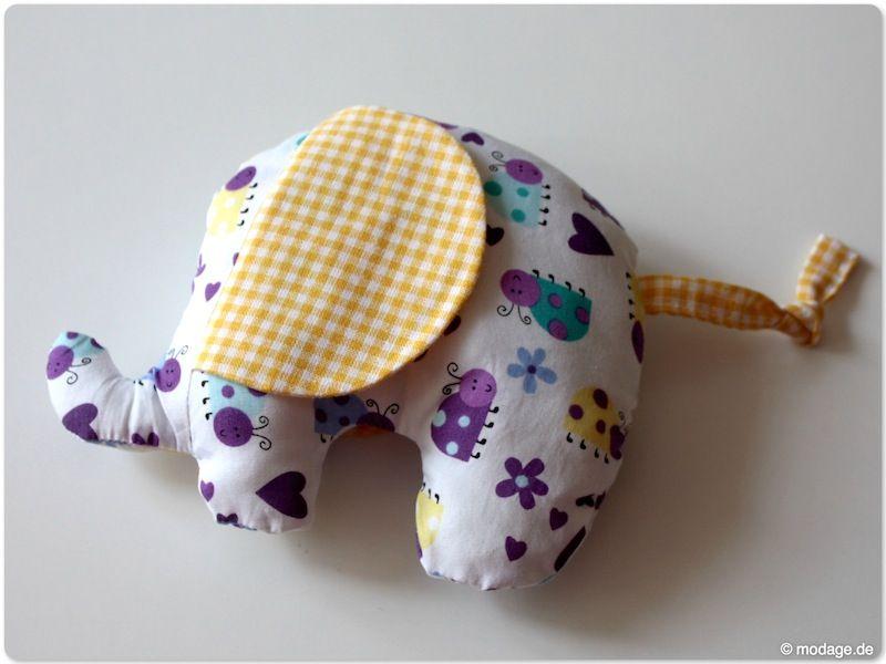 Kuscheltier Elefant nach dem Freebook von birchfabrics | Baby & Kids ...